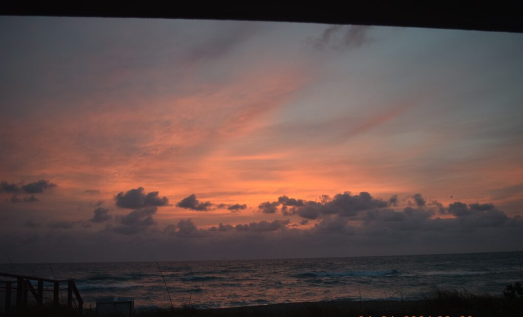 Sunrise from Hutchinson Shores Resort and Spa.